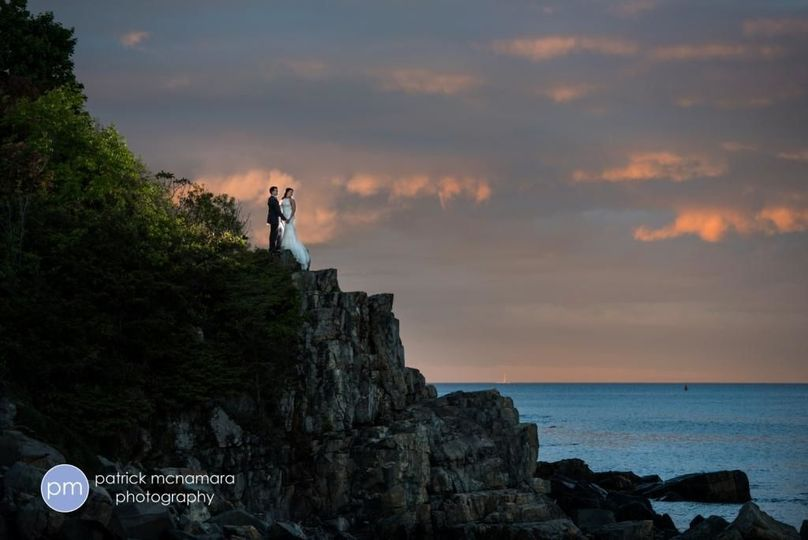 Cliff Walk, York Harbor Inn Maine Weddings. Patrick McNamara Photography