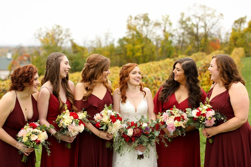 Fall wedding in wine country