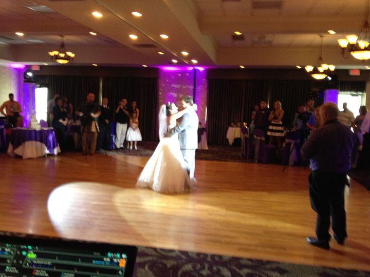 Dancing couple on the dance floor