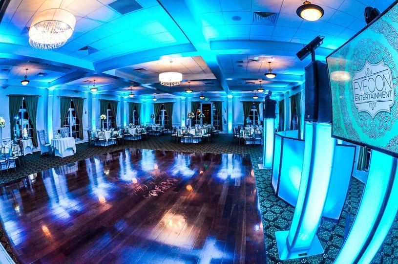 Blue lights for the dance floor