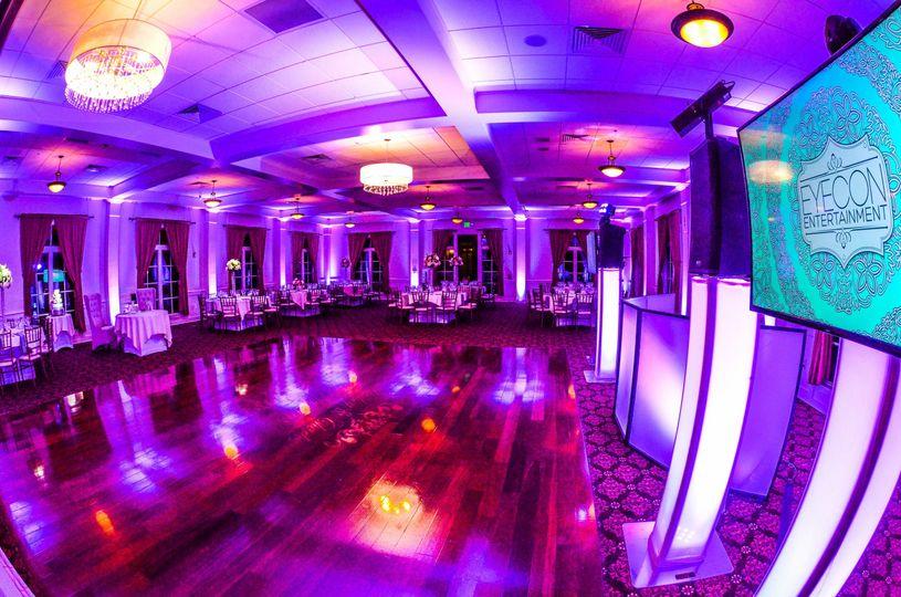 Pink lights for the dance floor