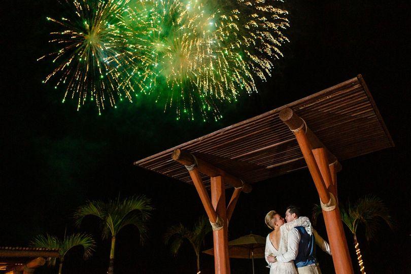 Fireworks at Playa Fiesta