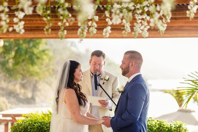 Wedding vows in Playa Fiesta