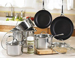 Princess Houses Induction Ready Non Stick Stainless Steel Cookware Set - PFOA Free!