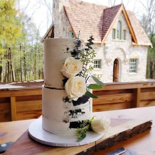 Modern Watercolor Cake