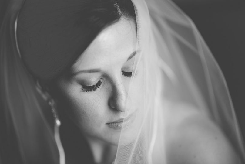 Closeup of the bride
