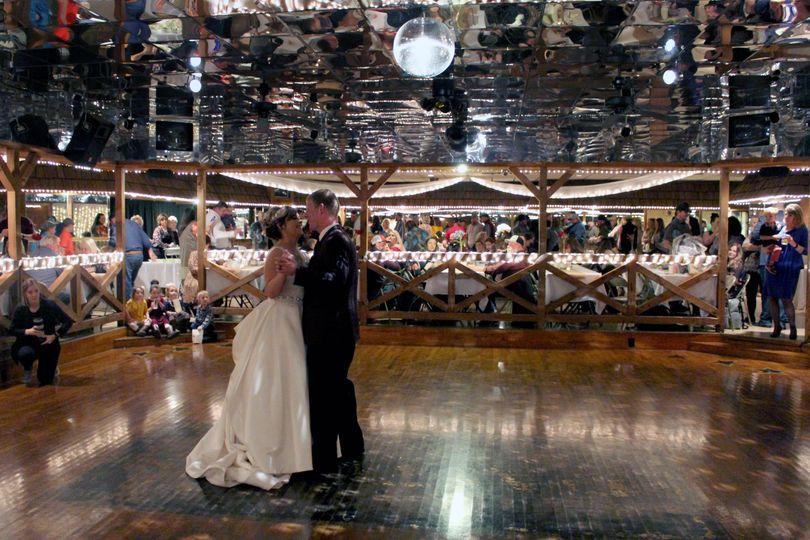 Spacious dance floor