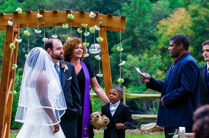 Wedding outdoors in Lake Lure