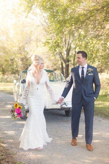 lace long sleeve v neck wedding dress 6