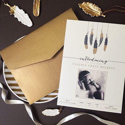 Tmx 1459433441035 Birth Announcement 1 Morristown wedding invitation