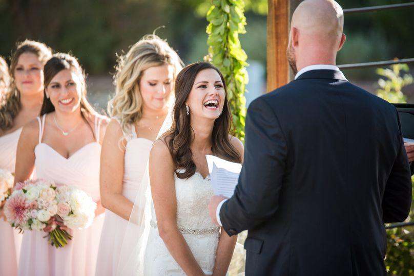 Laughing bride