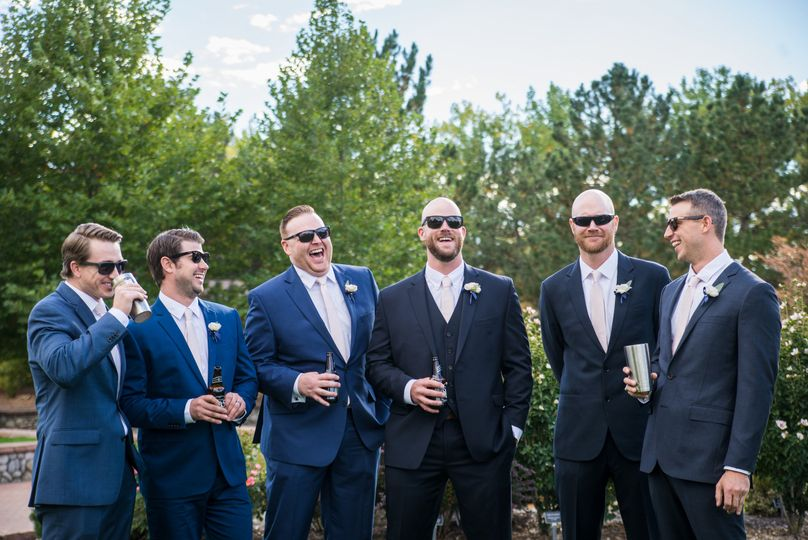 The groom with his groomsmen​
