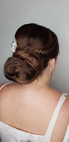 Clean updo