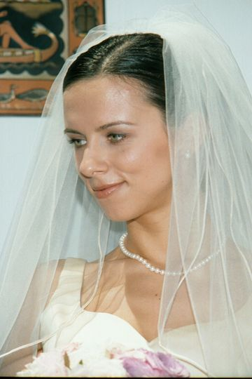 white bride face