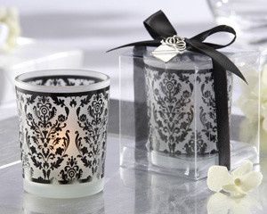 Tmx 1445009889464 Damask Traditions Black White Frosted Glass Tea Li San Jose wedding favor