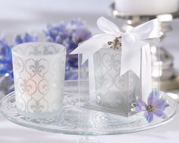 Tmx 1445009933301 Fleur De Lis Frosted Glass Tea Light Holder Favors San Jose wedding favor