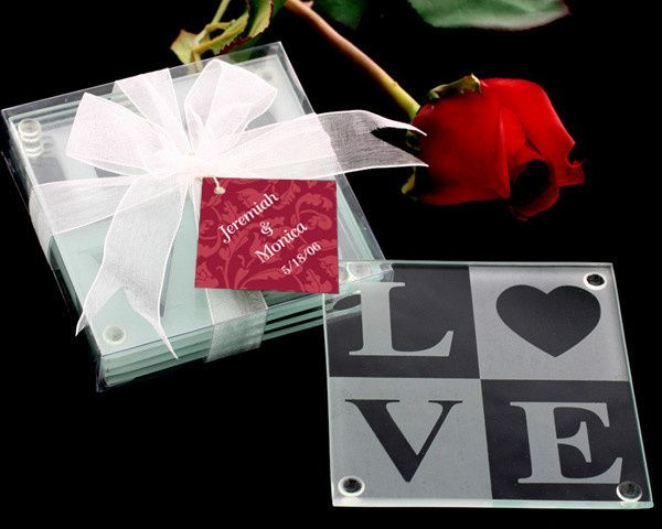 Tmx 1445009985863 Love Glass Coaster Gift Set With Ribbon And Thank  San Jose wedding favor