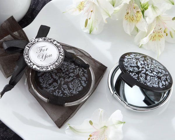 Tmx 1445010057455 Reflections Elegant Black And White Mirror Compact San Jose wedding favor