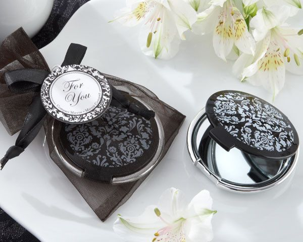 Tmx 1445010064487 Reflections Elegant Black And White Mirror Compact San Jose wedding favor