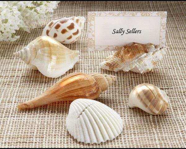 Tmx 1445010072029 Shells By The Sea Authentic Shell Placecard Holder San Jose wedding favor