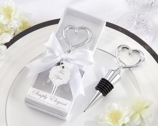 Tmx 1445010086552 Simply Elegant Chrome Heart Bottle Stopper Wedding San Jose wedding favor