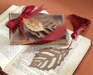 Tmx 1445010154502 Turning Leaves Bookmark With Burgundy Silk Tassel  San Jose wedding favor