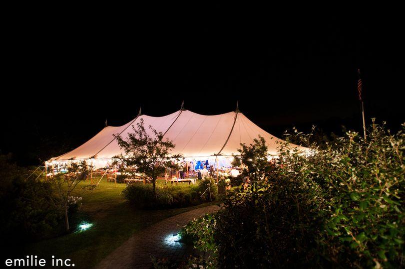 Outdoor Tented Reception Area