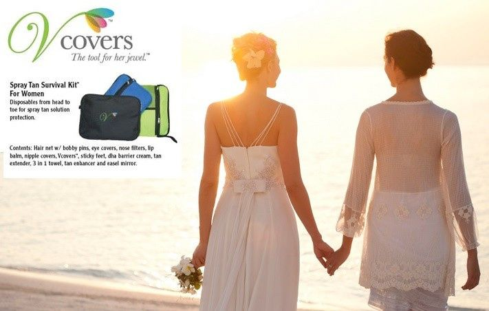 Our women's Spray Tan Survival Kit comes in a beautiful Blue, Black or Green canvas bag with 13...