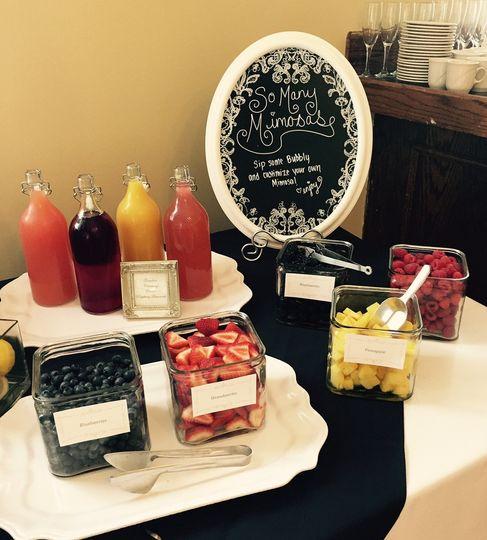 mimosa bar set up 1