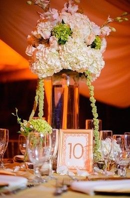 Table ten with centerpiece