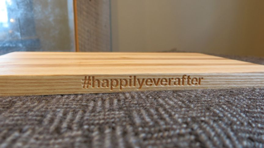 Our #happilyeverafter makes a great wedding gift. Or better yet, have it customized to reflect your...