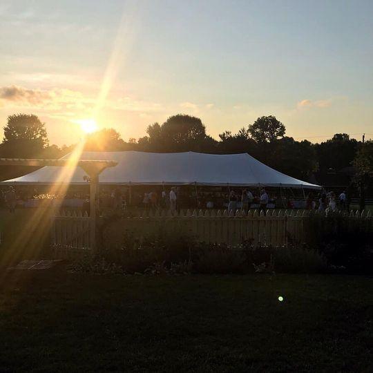 Outdoor Reception Pole Tent