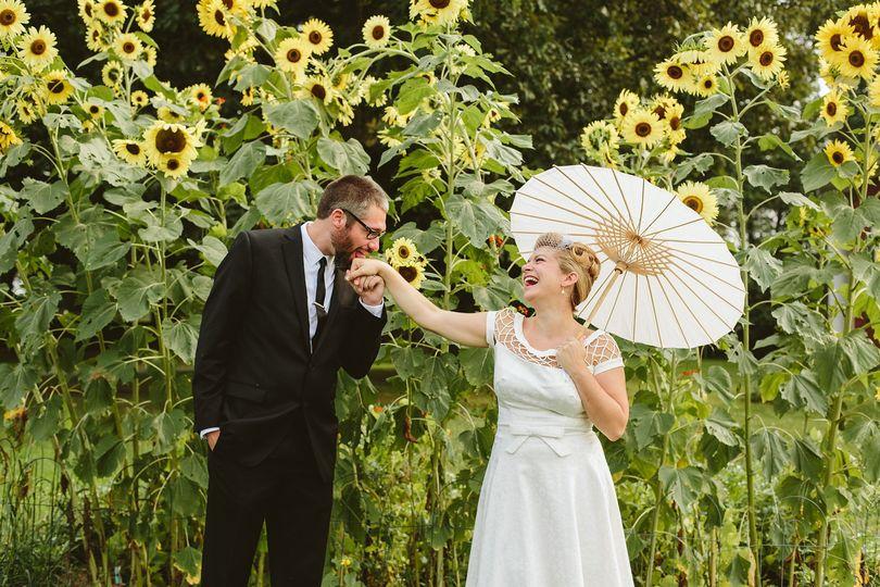 Sunflower Couples Portrait