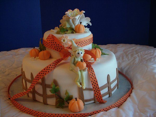 Fall event cake, fondant covered chocolate with chocolate buttercream filling, gumpaste and fondant...