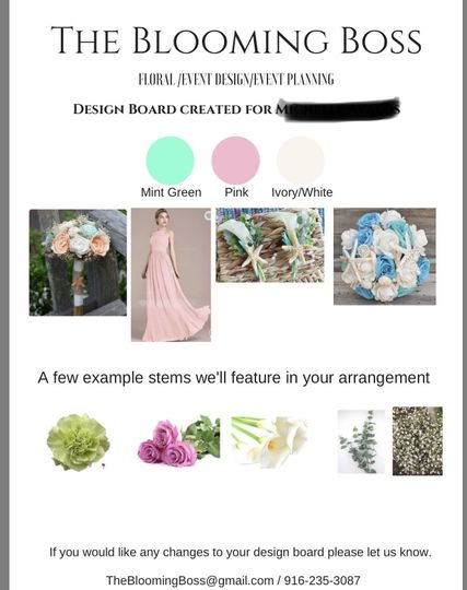 Our wedding design board is a great way to play your flowers for your wedding.