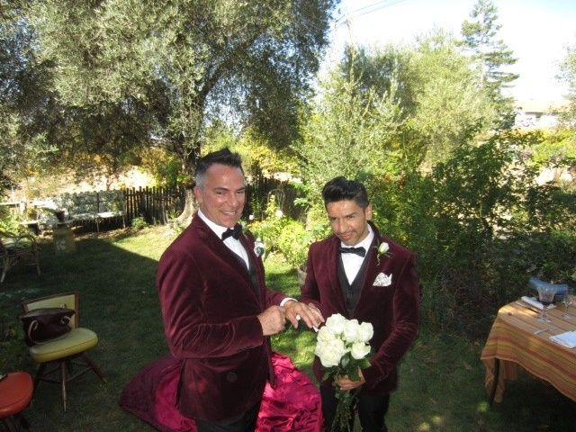 Simple and beautiful vineyard wedding