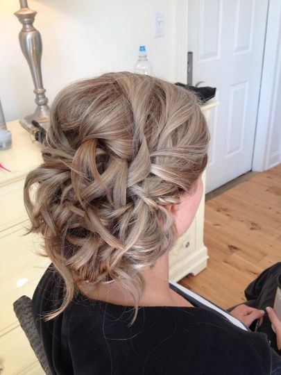 Messy but elegant updo