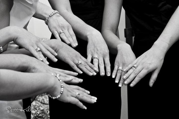 Bridal party rings