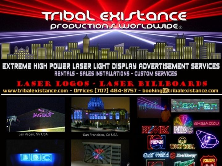 Tmx 1472957346506 01 High Power Laser Logo Display Advertisement Ren Rohnert Park wedding eventproduction