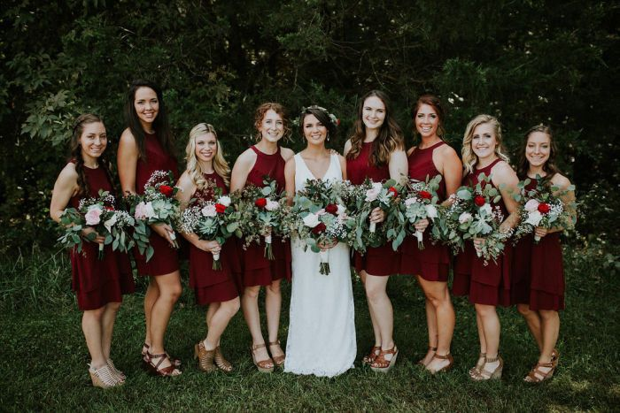 Cascading bouquets