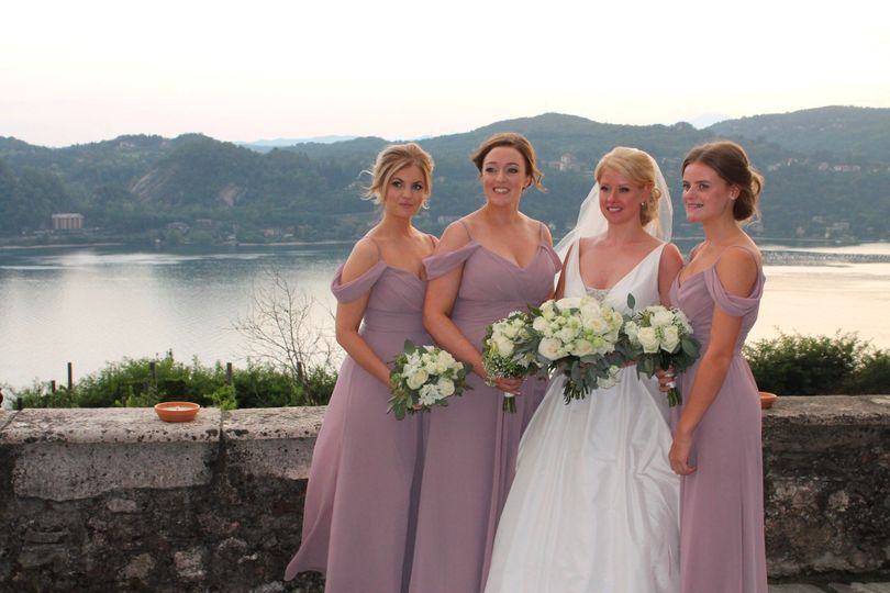 Bridesmaids in the castle