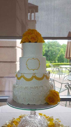 White and yellow cake