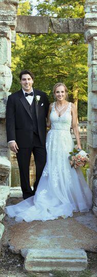 Newlyweds on their big day