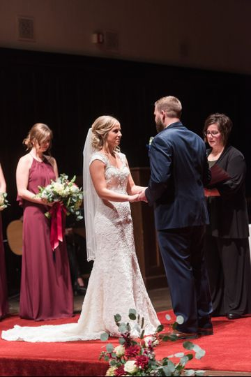 Mike & Krystal's Wedding. Photography by Jennifer Weinman Photography. Wedding Officiant, Denise...
