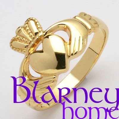 Traditional Claddagh Ring - the Hands stand for Friendship, the Heart stands for Love and the Crown...