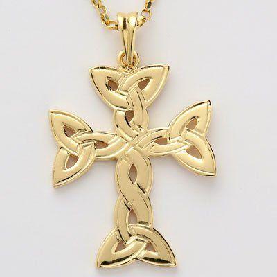 Trinity Knot Celtic Cross Pendant.