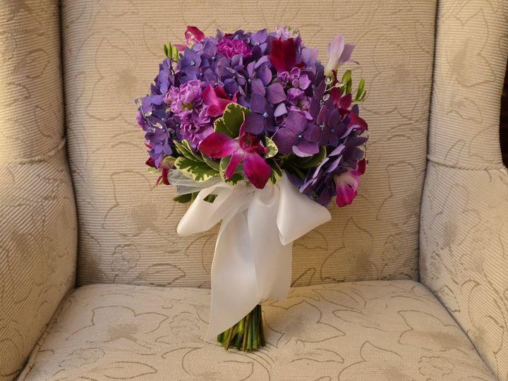 Tmx 1361654552469 BrdBQstandingonchair Cherry Hill wedding florist
