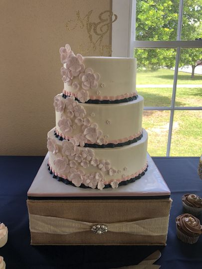 Fondant Flower Tiered Cake