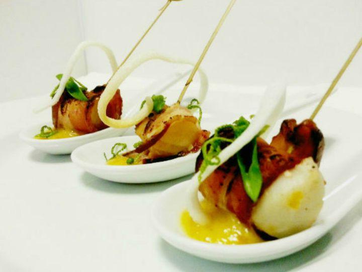 Tmx 1414101370652 Denver Catering Companies Scallop Rumaki Montpelier wedding catering
