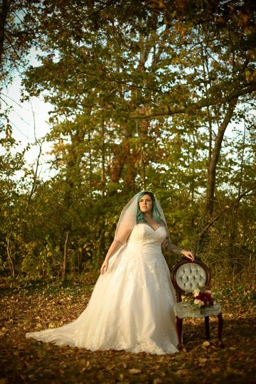 Bride at the forest